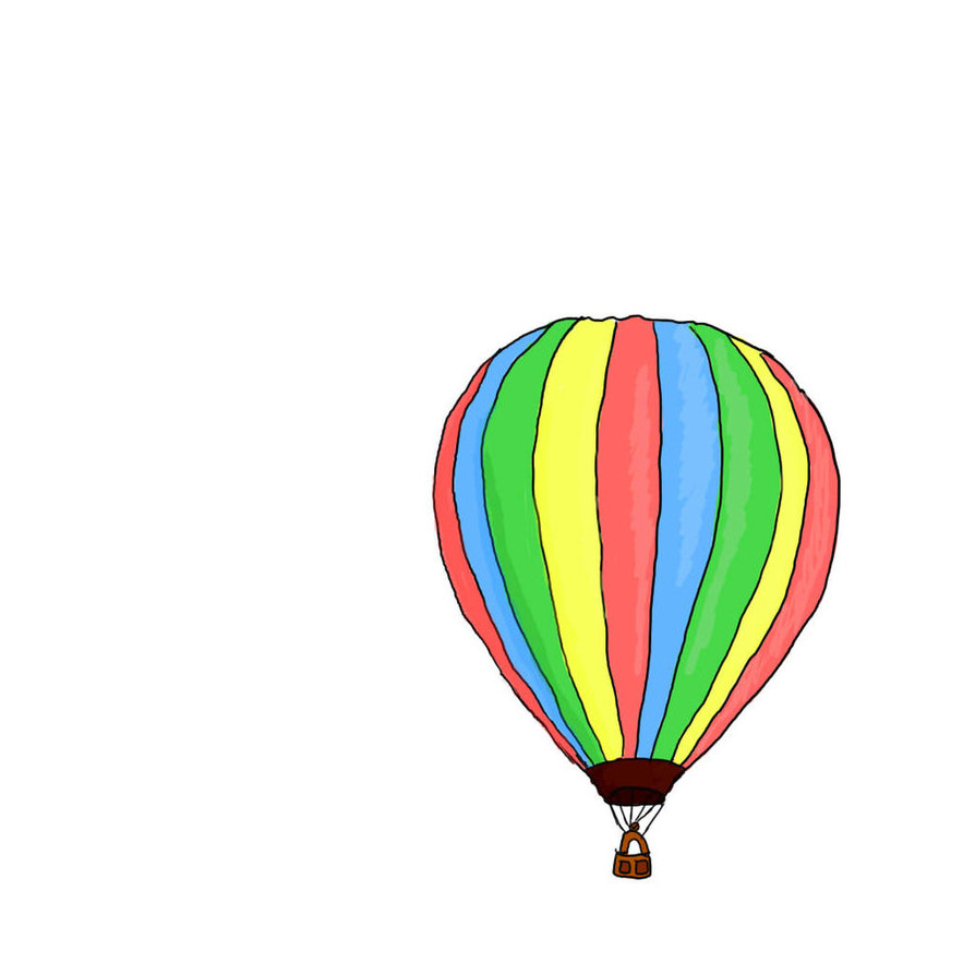 894x894 Hot Air Balloon By Gyzycat
