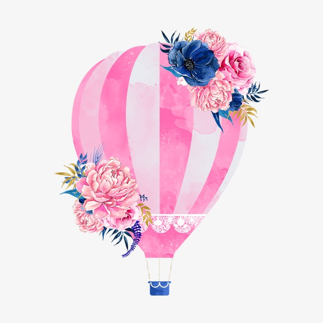650x650 Pink Hot Air Balloon, Drawing Hot Air Balloon, Pink Png Image