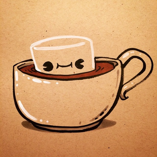 640x640 Brian Cook Illustration Hope You All Have A Hot Chocolate