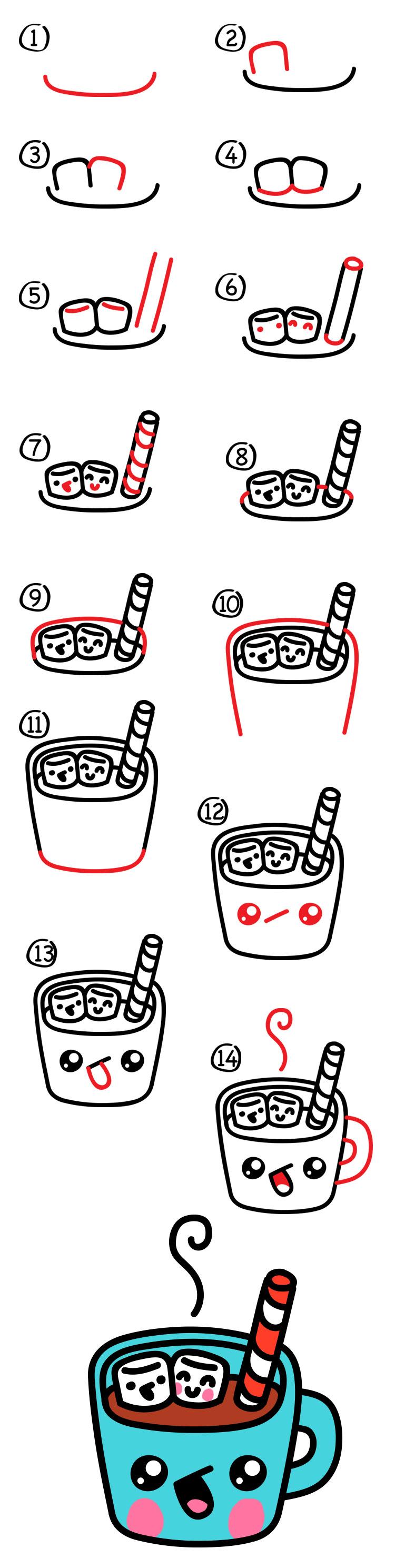 750x2977 How To Draw Cartoon Hot Chocolate