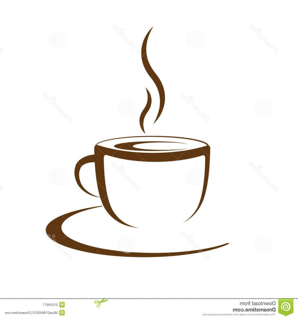 1024x1095 Best Hot Coffee Cup Vector White Background Drawing
