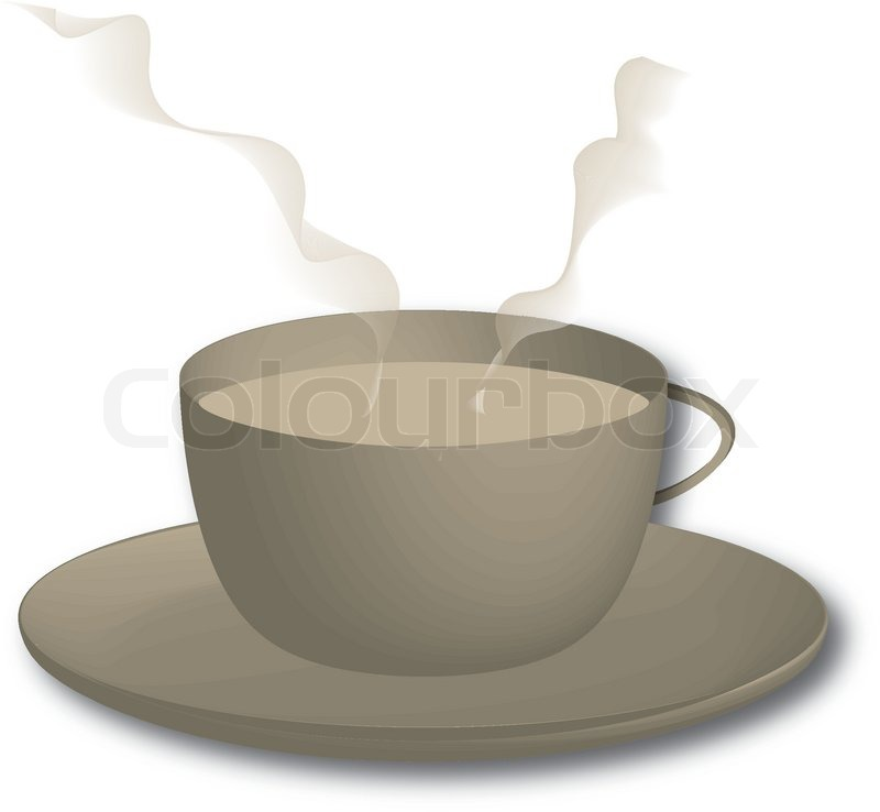 800x738 Hot Coffee Drawing Stock Vector Colourbox