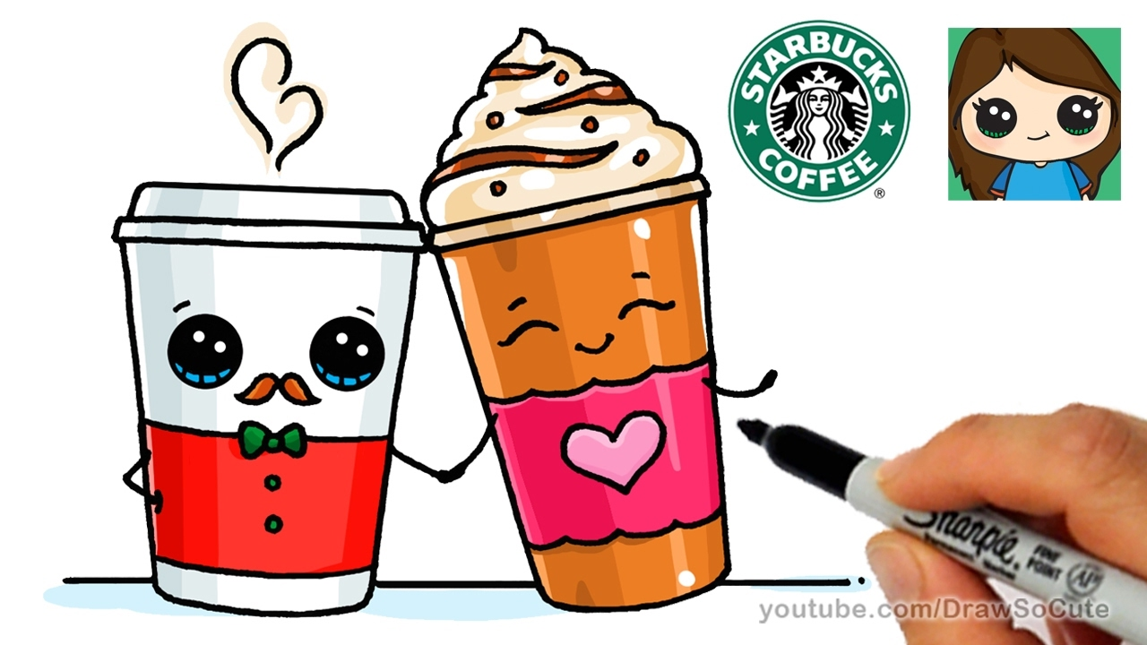 1280x720 How To Draw A Frappuccino And Hot Coffee