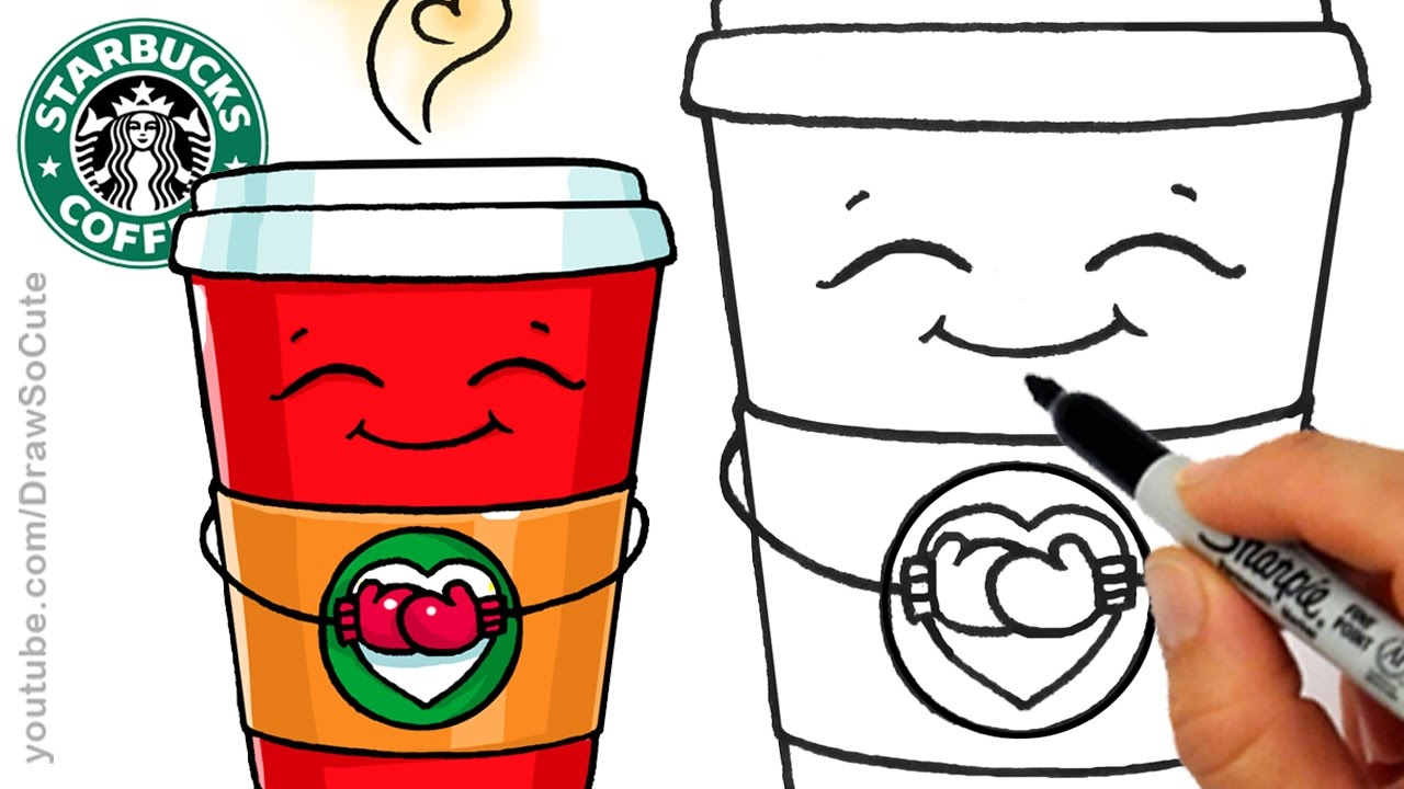1280x720 How To Draw A Hot Starbucks Drink Step By Step Easy And Cute