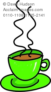 167x300 Image Of A Whimsical Drawing Of A Steaming Hot Cup Of Tea Or Coffee