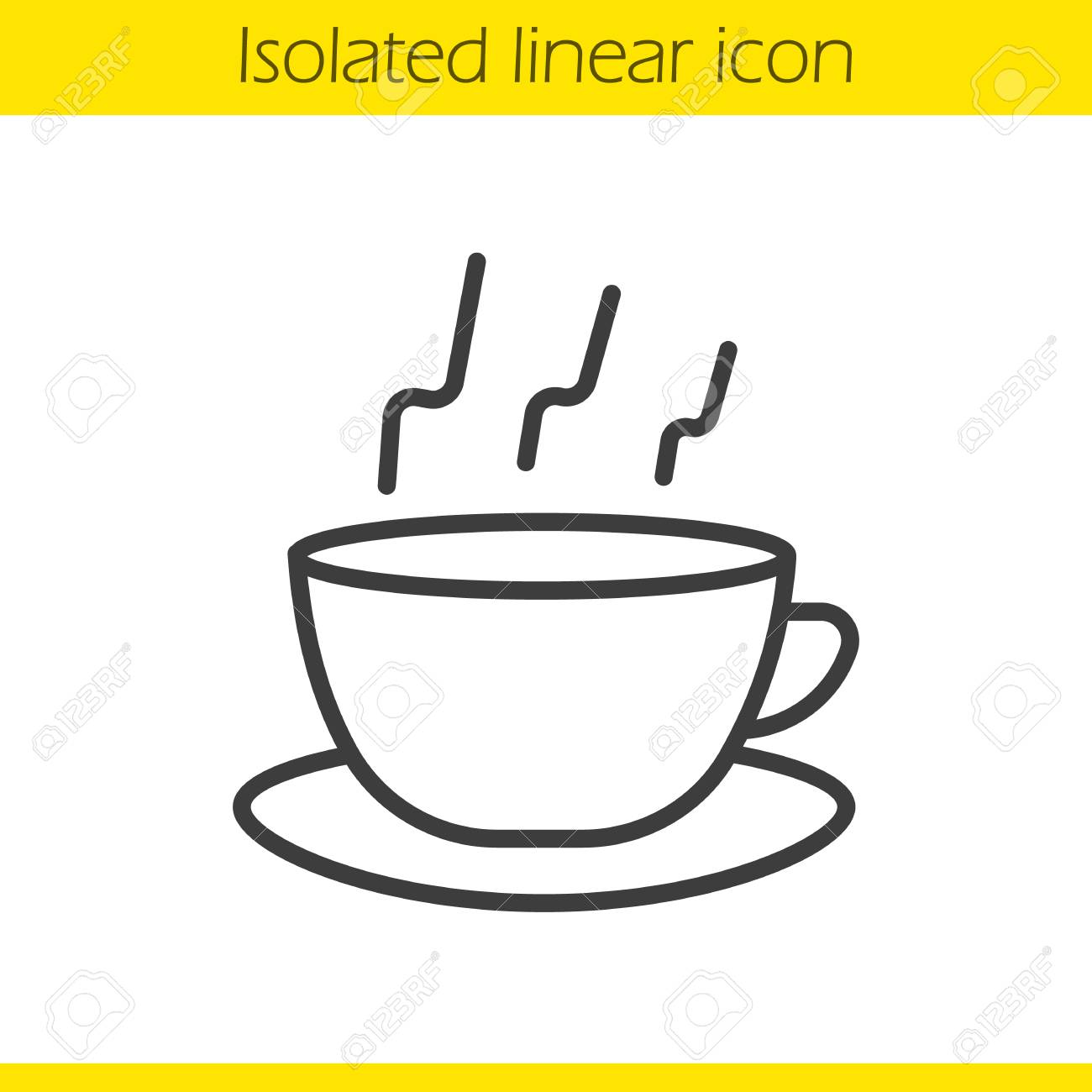 1300x1300 Steaming Cup Linear Icon. Teacup Thin Line Illustration. Hot