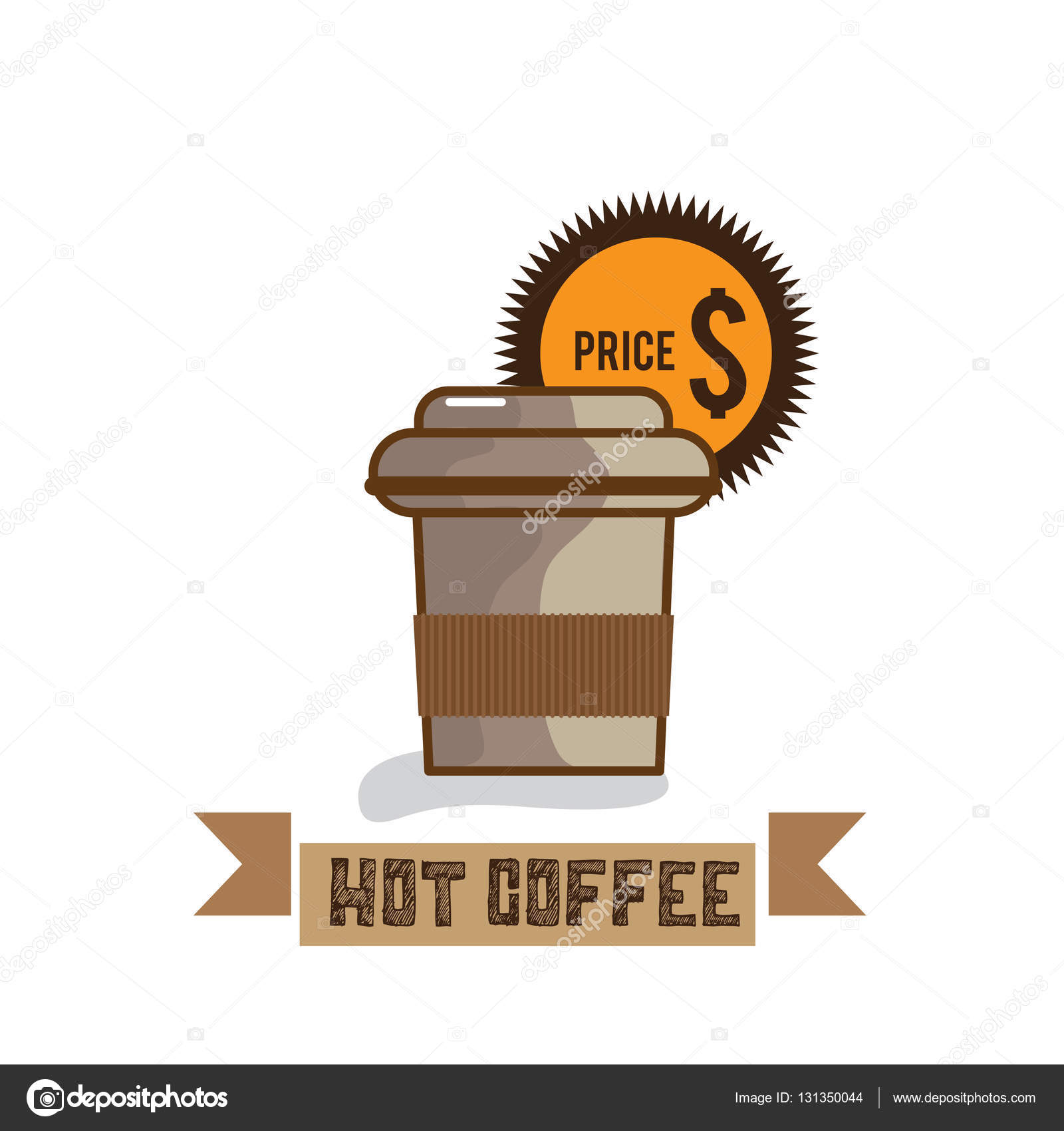 1600x1700 Food Hot Coffee Drawing Graphic Design Objects Stock Vector