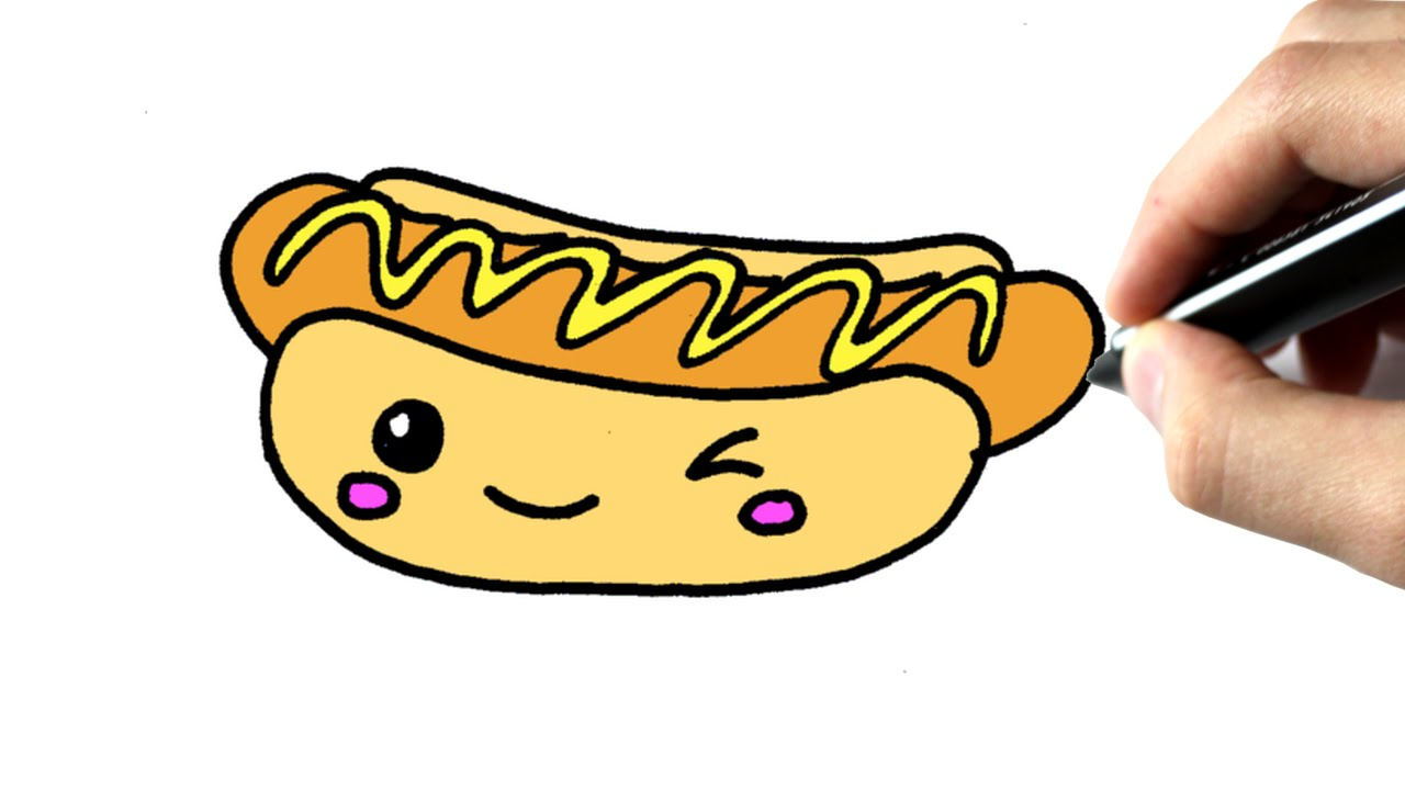 1280x720 Comment Dessiner Un Hot Dog Kawaii