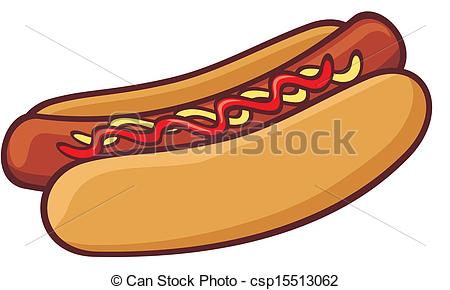450x290 Hot Dog Clip Art Vector
