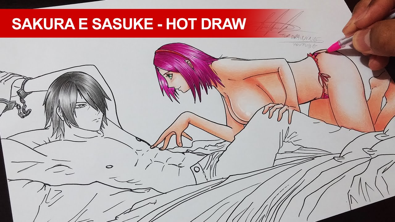 1280x720 Speed Drawing Sakura E Sasuke