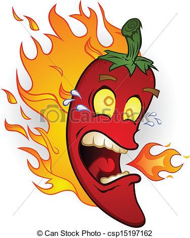 375x470 Hot Chili Pepper On Fire Cartoon. A Red Chili Pepper Clip Art