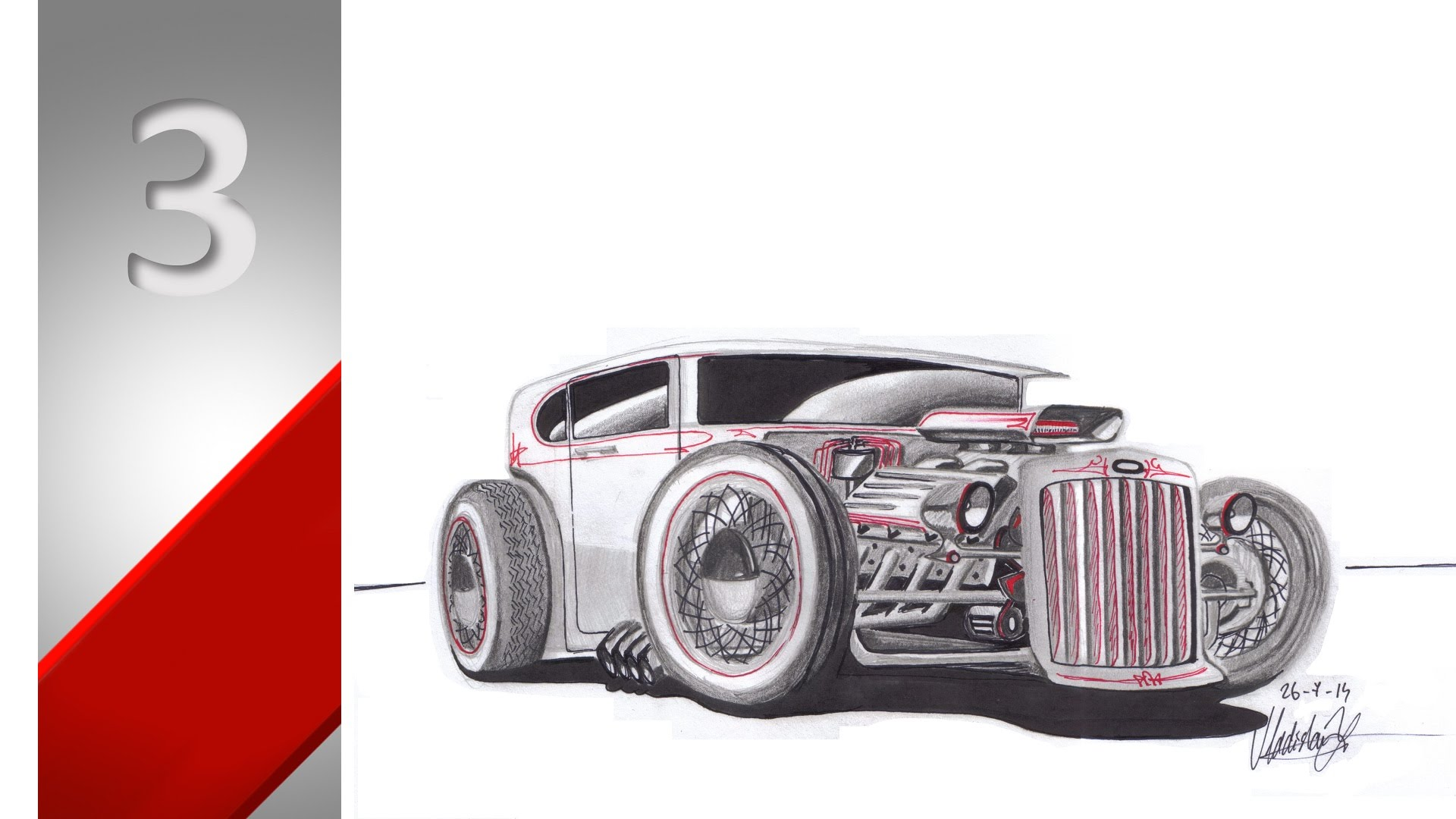 Hot Rod Car Drawing at GetDrawings.com | Free for personal use Hot ...