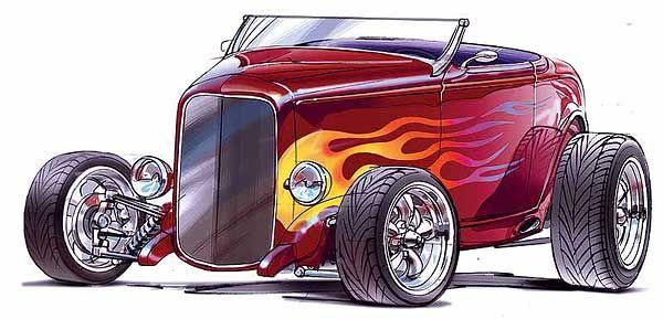 600x289 Rat Rod Clip Art Concept Art Of Heidt's Hot Rod Shop 32 Ford