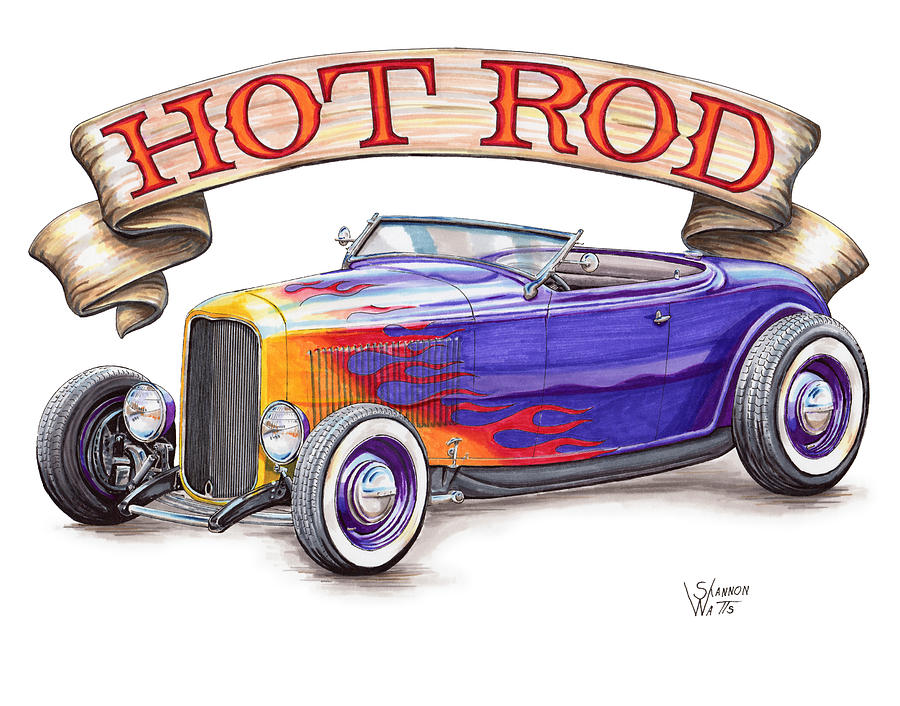 Hot Rod Drawing at GetDrawings.com | Free for personal use Hot Rod ...