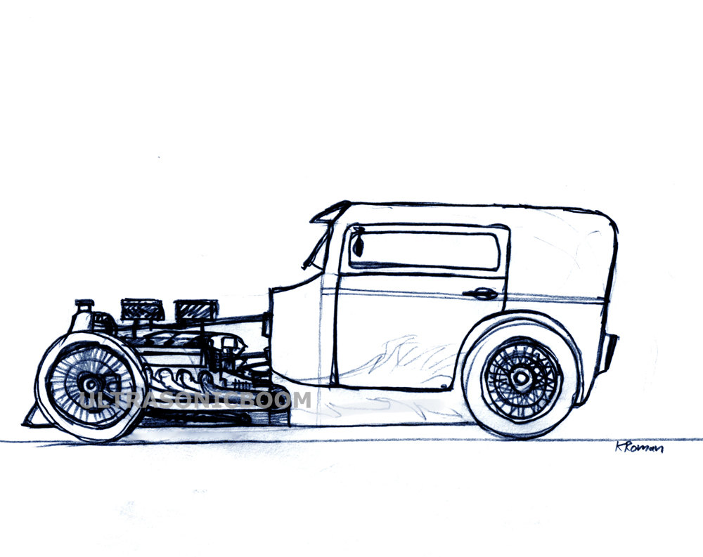 Hot Rod Drawing At Getdrawings Com Free For Personal Use Hot Rod