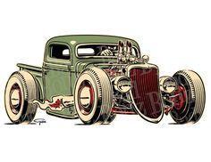 236x182 Hot Rod Sketches Drawings Sketches By Ricardo Fedrizzi