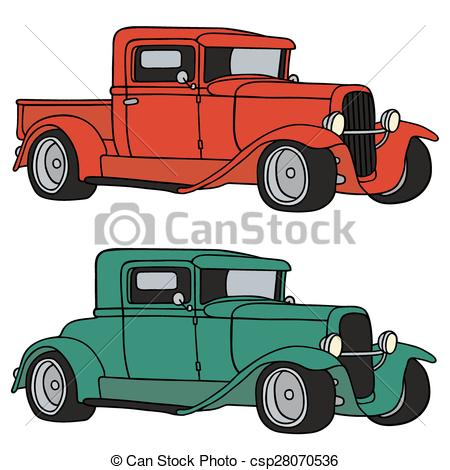 450x470 Hot Rods. Hand Drawing Of Two Funny Vintage Sports Cars