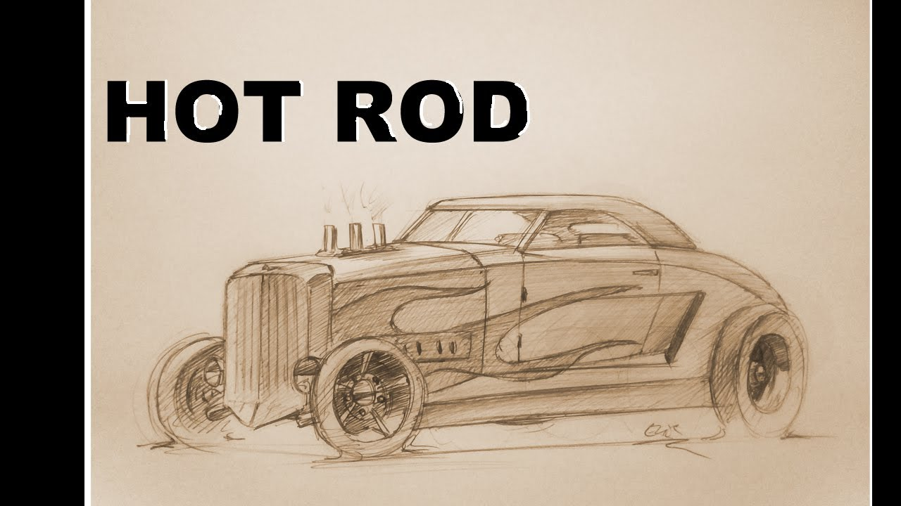 1280x720 How To Draw A Hot Rod 3d