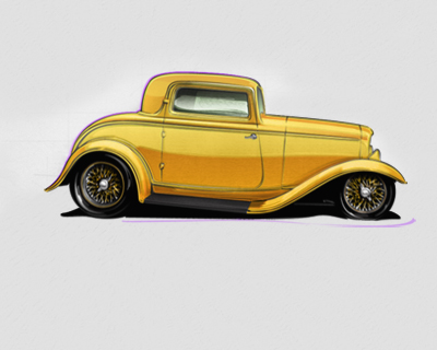 400x320 Tutorial How To Draw A Hot Rod