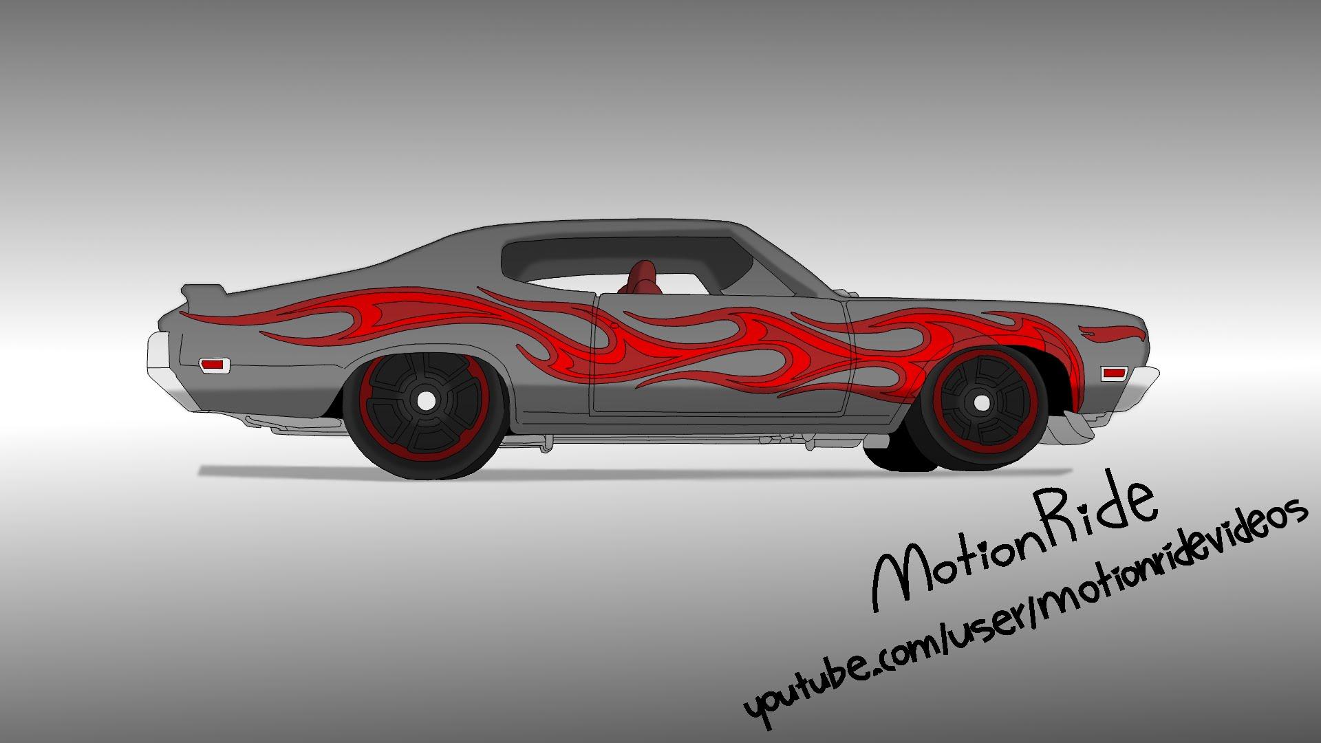 1920x1080 Hot Wheels 70 Buick Gsx [Speed Drawing]