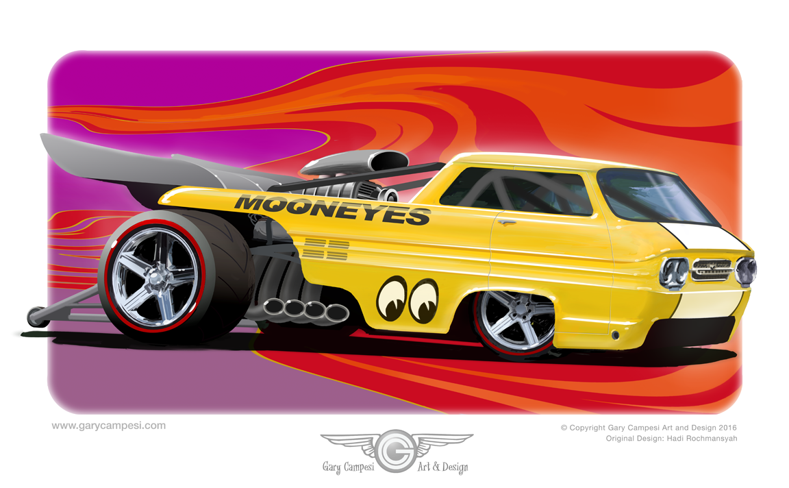 1152x712 A Rendering Of One Of My Friends Custom Built Hot Wheels Cars