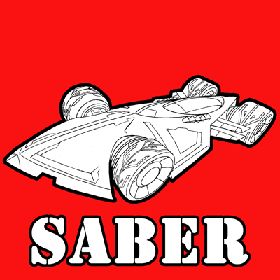400x400 How To Draw The Saber From Hot Wheels Battle Force 5 With Easy