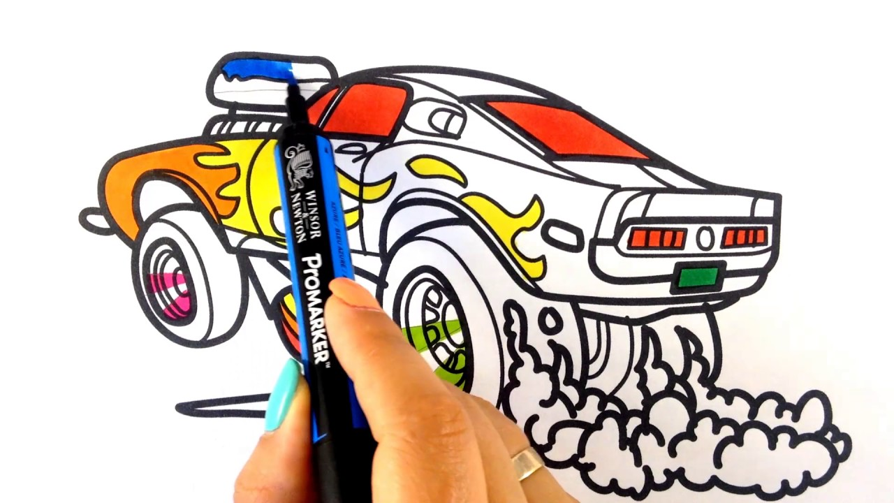 1280x720 How To Draw A Car. Ford Mustang Shelby Drag Racing Muscle Car