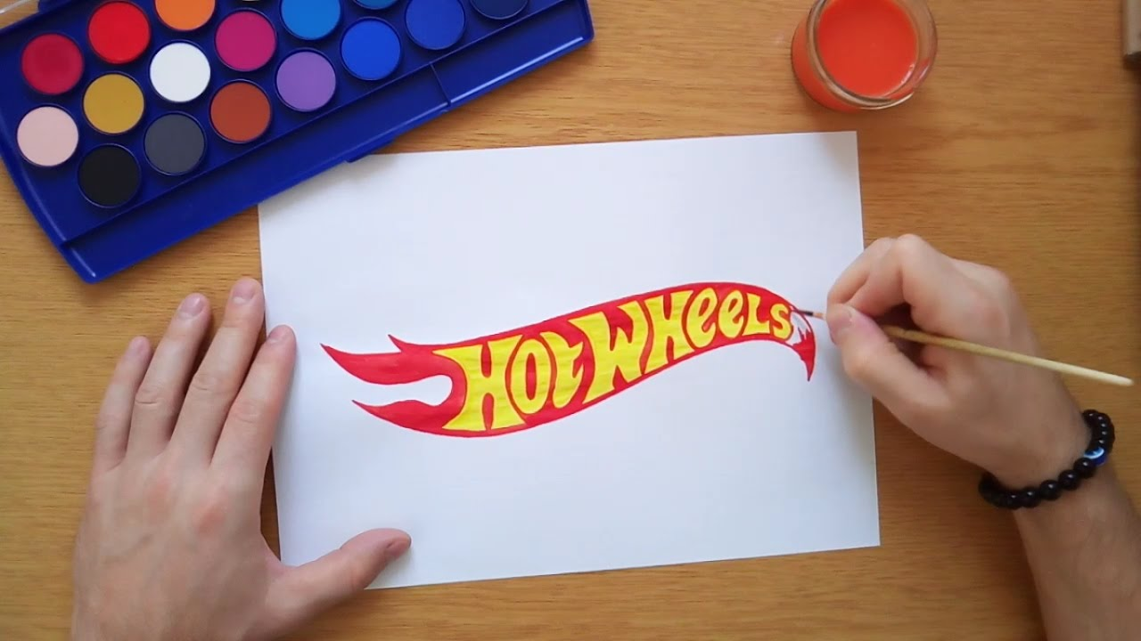 1280x720 How To Draw The Hot Wheels Logo (Logo Drawing)