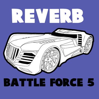 400x400 How To Draw The Reverb From Hot Wheels' Battle Force 5 With Easy