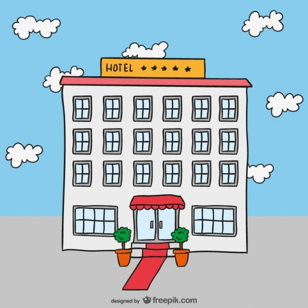 626x626 Hotel Drawing Vector Vector Free Download