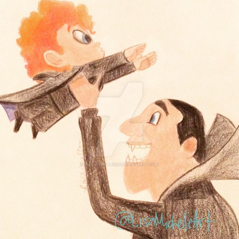 800x800 Hotel Transylvania 2 Dracula And Dennis By Lisamichelleart