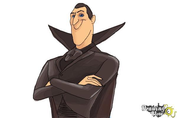 600x400 How To Draw Dracula From Hotel Transylvania 2