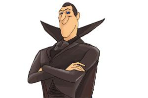 300x200 How To Draw Dracula From Hotel Transylvania 2