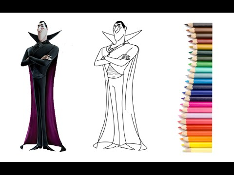 480x360 How To Draw Dracula From Hotel Transylvania 2 Movie