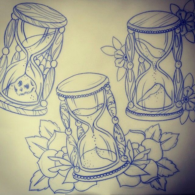 640x640 31 Best Traditional Hourglass Tattoo Drawing Images