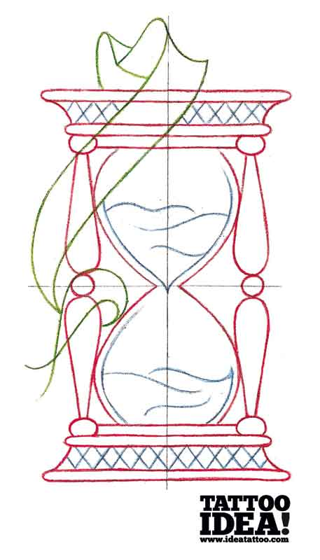 457x800 Draw A Traditional Style Hourglass Ideatattoo