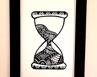340x270 Hourglass Drawing Etsy