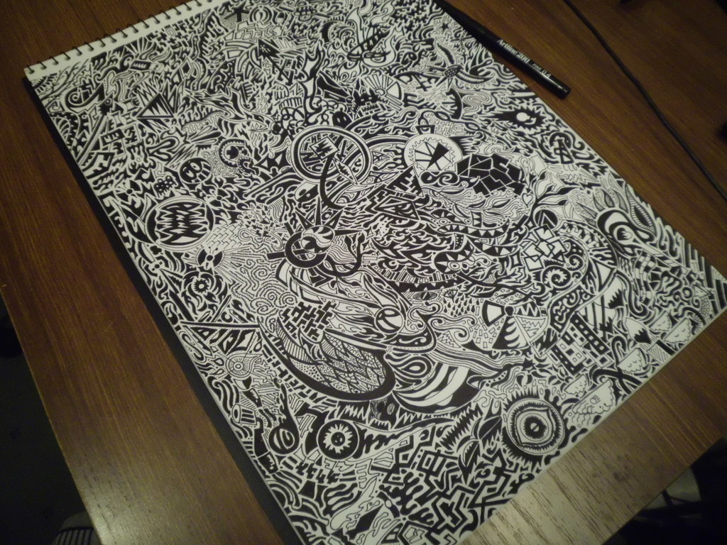 1024x768 Watch Me Draw This! 15 Hours Of Detailed Art ) By Importautumn