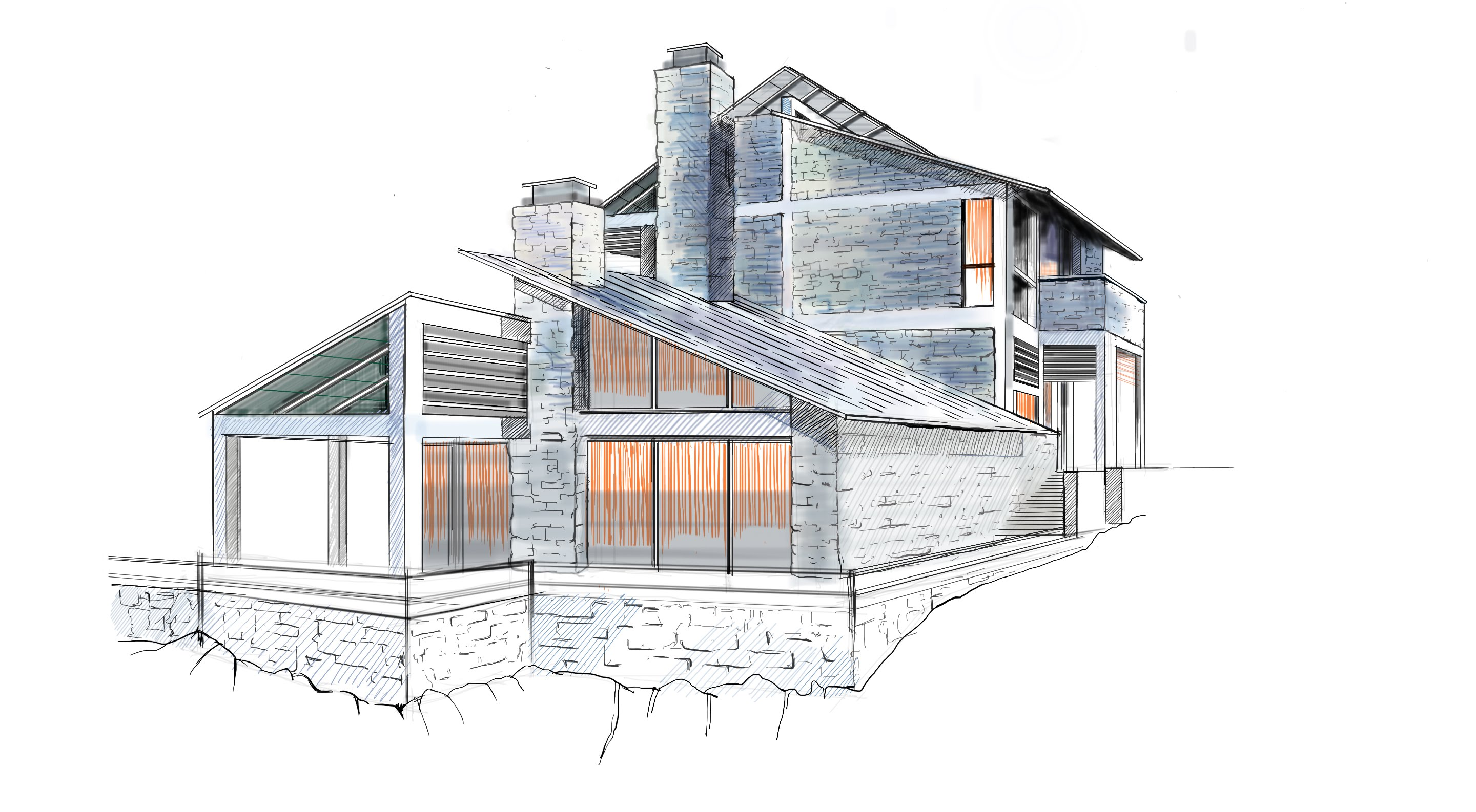 2880x1586 Architectural Rendering In Sketchbook Pro, From Start To Finish