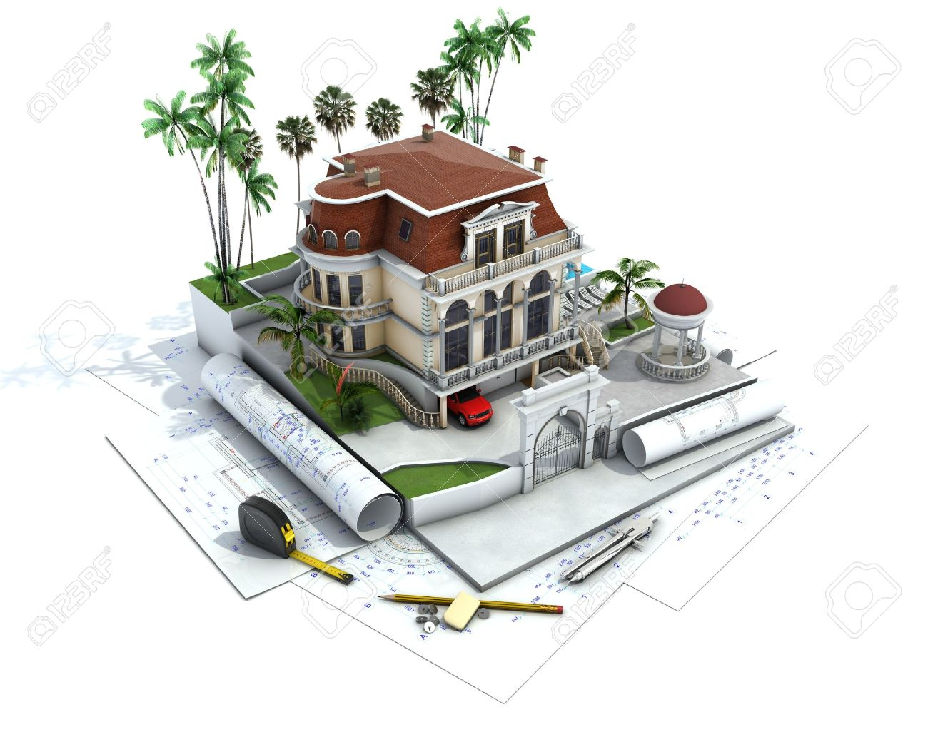 House Architecture Drawing at GetDrawings.com   Free for personal ...