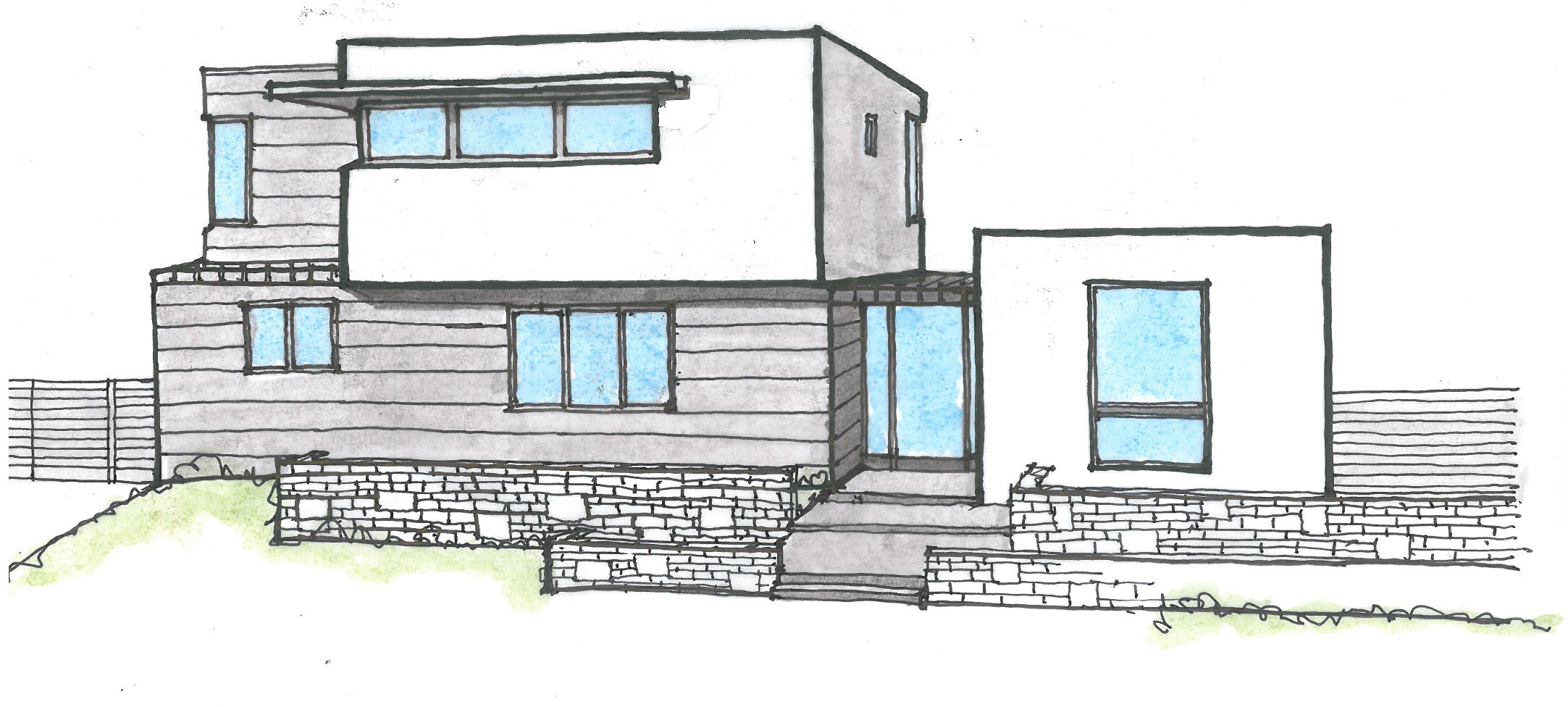 architecture houses sketch. Modren Sketch 2165x976 Modern Home Palo Alto California Alexa Schloh Architect To Architecture Houses Sketch