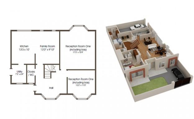 624x384 Are 3d Floor House Building Plans Better Than 2d Floor Plans