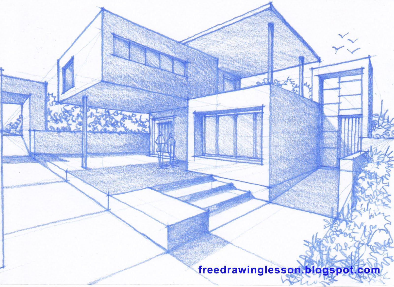 1600x1164 Let Us Try To Draw This House Design By Following The Step By Step
