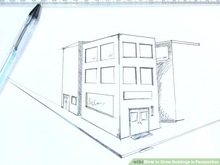 728x546 Sketch Of Building Plan Image Titled Draw Buildings In Perspective