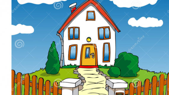570x320 House Drawing Cartoon How To Draw A Cartoon House