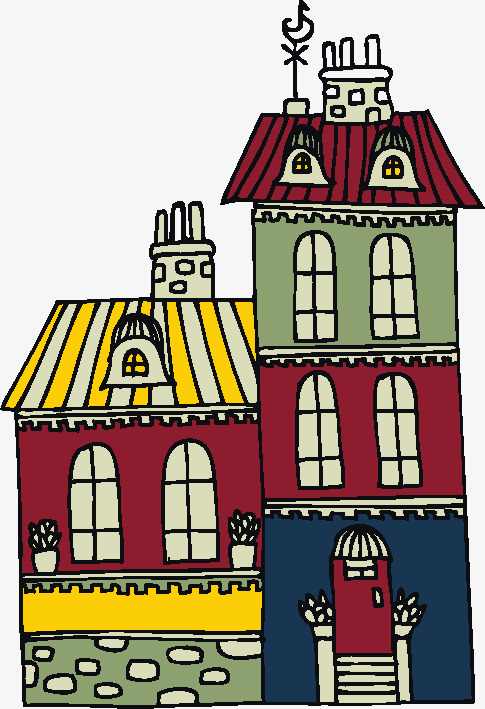485x709 Simple Cartoon House Vector Pen Drawing, Cartoon, Creative, House