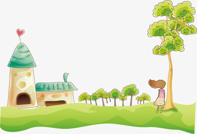 650x442 Vector Cartoon Drawing, Cartoon, Color Painted, House Png