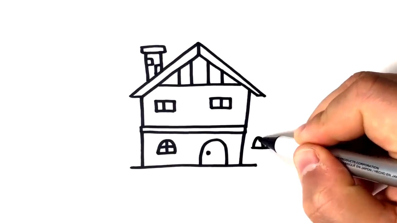 1280x720 How To Draw A Small House My Web Value
