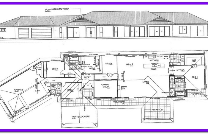 700x450 House Construction Plans Scale Drawings Interior Modern Section