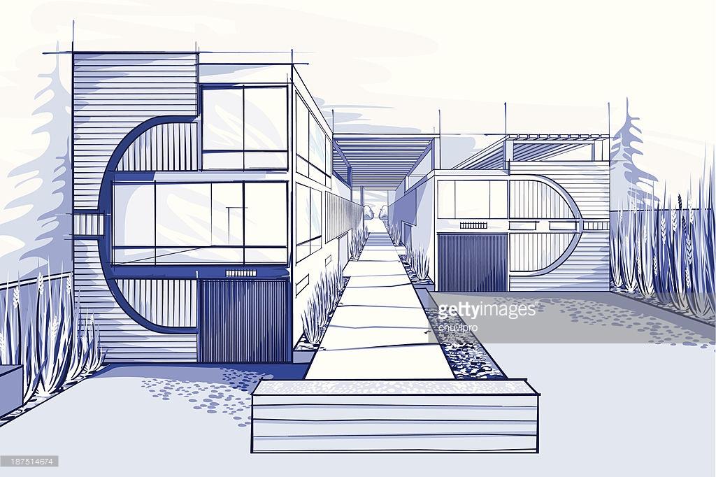 1024x682 Modern House Drawings